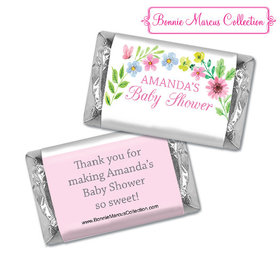 Personalized Bonnie Marcus Baby Shower Butterfly Flower Wreath Hershey's Miniatures