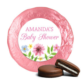 Personalized Bonnie Marcus Flower Wreath Baby Shower Milk Chocolate Covered Oreos