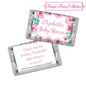 Personalized Bonnie Marcus Floral Wreath Baby Shower Hershey's Miniatures