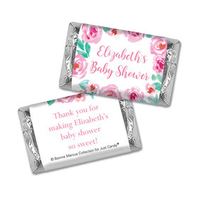 Personalized Bonnie Marcus Floral Wreath Baby Shower Mini Wrappers