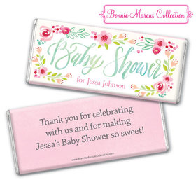 Personalized Bonnie Marcus Baby Shower Honey Wreath Chocolate Bar