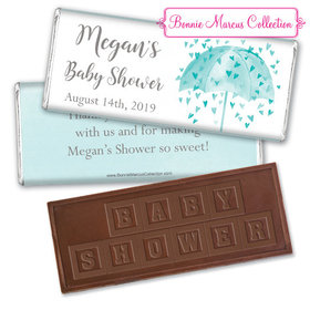 Personalized Bonnie Marcus Baby Shower Heart Shower Embossed Chocolate Bar