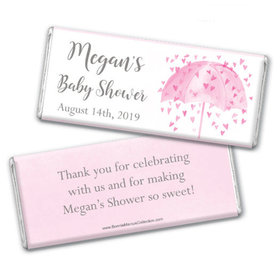 Personalized Bonnie Marcus Baby Shower Heart Shower Chocolate Bar