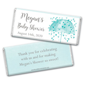 Personalized Bonnie Marcus Baby Shower Heart Shower Chocolate bar Wrappers