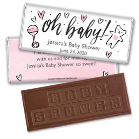 Personalized Bonnie Marcus Baby Shower Icons Embossed Chocolate Bar