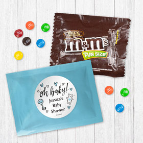 Personalized Baby Shower Oh Baby - Milk Chocolate M&Ms
