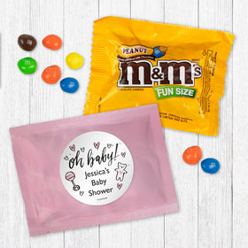 Personalized Baby Shower Oh Baby - Peanut M&Ms