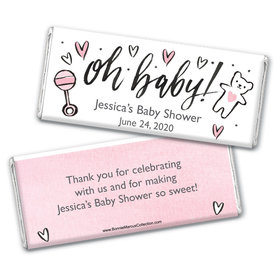 Personalized Bonnie Marcus Baby Shower Icons Chocolate Bar Wrappers