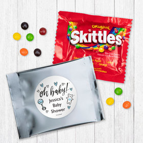 Personalized Baby Shower Oh Baby - Skittles