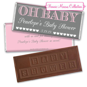 Personalized Bonnie Marcus Baby Shower Oh Baby Embossed Chocolate Bar