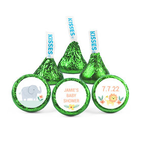 Personalized Bonnie Marcus Baby Shower Safari Animals Hershey's Kisses (50 pack)