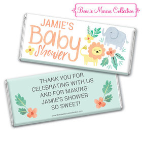 Personalized Bonnie Marcus Baby Shower Safari Fun Chocolate Bar
