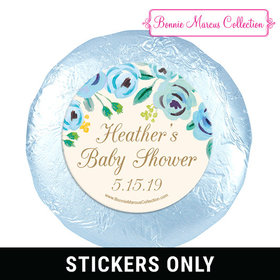 Personalized Bonnie Marcus Blooming Baby Baby Shower 1.25in Stickers (48 Stickers)