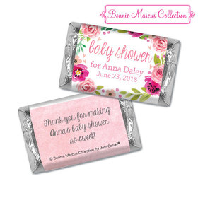 Personalized Bonnie Marcus Baby Shower Painted Petals Hershey's Miniatures