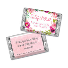 Personalized Bonnie Marcus Baby Shower Painted Petals Hershey's Miniatures Wrappers