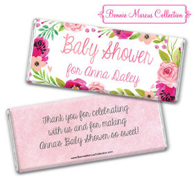 Personalized Bonnie Marcus Baby Shower Painted Petals Chocolate Bar