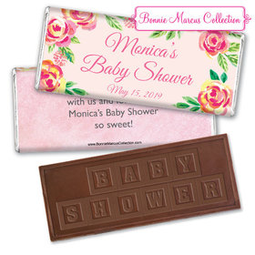 Personalized Bonnie Marcus Baby Shower Spring Baby Embossed Chocolate Bar