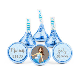 Personalized Bonnie Marcus Baby Shower Bow Hershey's Kisses (50 pack)