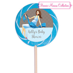 "Bonnie Marcus Collection Personalized 3"" Swirly Pop - Baby Bow (12 Pack)"