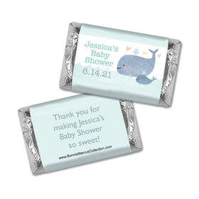 Personalized Bonnie Marcus Baby Shower Baby Whale Hershey's Miniatures Wrappers