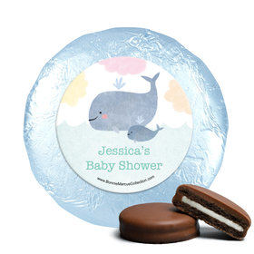 Personalized Bonnie Marcus Baby Whale Baby Shower Milk Chocolate Covered Oreos