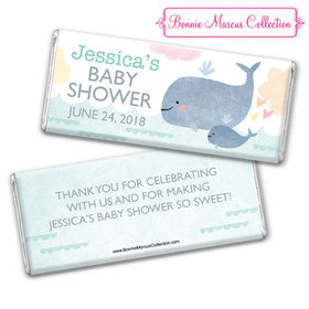 Personalized Bonnie Marcus Baby Shower Baby Whale Chocolate Bar