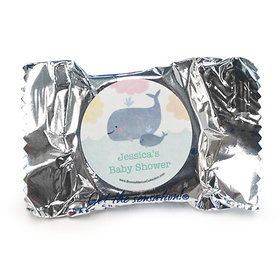 Personalized Bonnie Marcus Baby Whale Baby Shower York Peppermint Patties