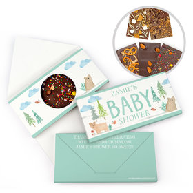 Personalized Bonnie Marcus Baby Shower Baby Bear Gourmet Infused Belgian Chocolate Bars (3.5oz)