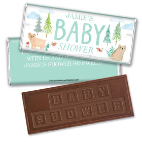 Personalized Bonnie Marcus Baby Shower Baby Bear Embossed Chocolate Bar
