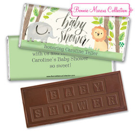 Personalized Bonnie Marcus Baby Shower Sarafi Nursery Embossed Chocolate Bar