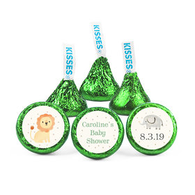 Personalized Bonnie Marcus Baby Shower Safari Nursery Hershey's Kisses (50 pack)