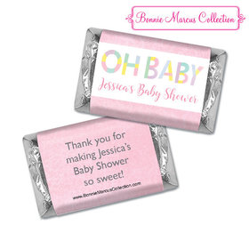 Personalized Bonnie Marcus Baby Shower Pastel Shower Hershey's Miniatures