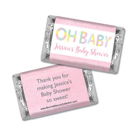 Personalized Bonnie Marcus Baby Shower Pastel Shower Hershey's Miniatures Wrappers