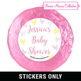 Personalized Bonnie Marcus Pastel Baby Shower 1.25in Stickers (48 Stickers)