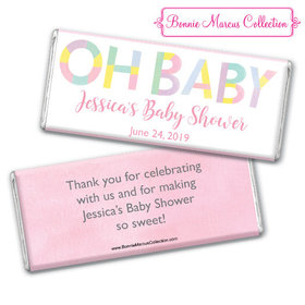 Personalized Bonnie Marcus Baby Shower Pastel Chocolate Bar