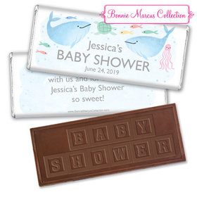 Personalized Bonnie Marcus Baby Shower Under the Sea Embossed Chocolate Bar