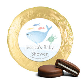 Personalized Bonnie Marcus Under the Sea Baby Shower Milk Chocolate Covered Oreos (24 Pack)