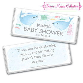 Personalized Bonnie Marcus Baby Shower Under the Sea Chocolate Bar