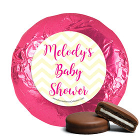 Personalized Bonnie Marcus Chevron Banner Girl Baby Shower Milk Chocolate Covered Oreos