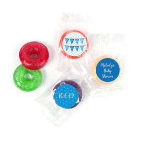Personalized Bonnie Marcus Baby Shower Chevron Banner Boy LifeSavers 5 Flavor Hard Candy