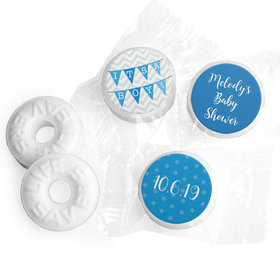 Personalized Bonnie Marcus Baby Shower Chevron Banner Boy Life Savers Mints