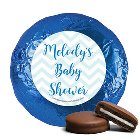 Personalized Bonnie Marcus Chevron Banner Boy Baby Shower Milk Chocolate Covered Oreos