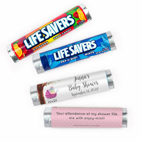 Personalized Baby Shower Rockabye Baby Lifesavers Rolls (20 Rolls)