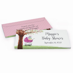 Deluxe Personalized Rockabye Baby Baby Shower Chocolate Bar in Gift Box