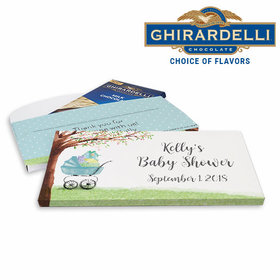 Deluxe Personalized Rockabye Baby Baby Shower Ghirardelli Chocolate Bar in Gift Box