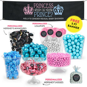 Personalized Gender Reveal Prince or Princess Deluxe Candy Buffet