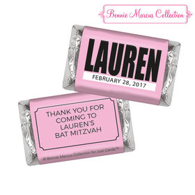 Bat Mitzvah Personalized Boldly Pink Hershey's Miniatures
