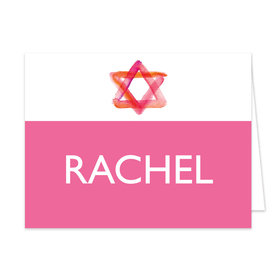 Bonnie Marcus Collection Personalized Pink Star of David Bat Mitzvah Thank You