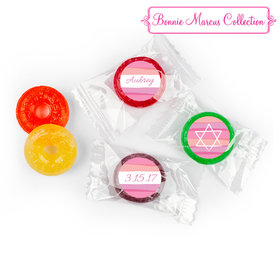 Bat Mitzvah Personalized Pink Watermark LifeSavers 5 Flavor Hard Candy (300 Pack)