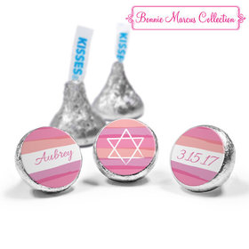 Bat Mitzvah Personalized Pink Watermark Completely Assembled Hershey's Kisses (50 Pack)